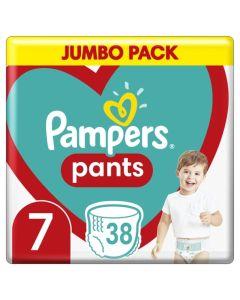 Pampers Pants Βρεφικές Πάνες Βρακάκι No 7 (17+ kg) Maxi Pack 38τμχ