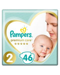Pampers Premium Care No 2 (4-8kg) 46 Βρεφικές Πάνες