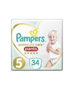 Pampers Premium Care Pants No 5 (12-17kg) Jumbo Πάνες-Βρακάκι 34Τμχ