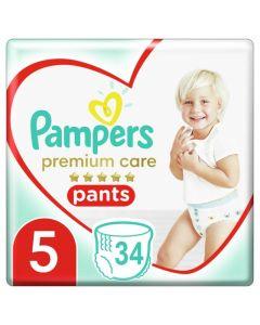 Pampers Premium Care Pants Βρεφικές Πάνες Βρακάκι No 5 (12-17kg) Jumbo Pack 34Τμχ