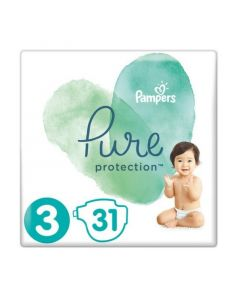 Pampers Pure Protection No 3 (6-10Kg) Βρεφικές Πάνες 31 Τεμάχια