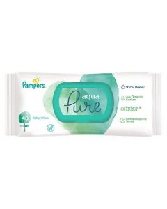 Pampers Pure Aqua Βρεφικά Μαντηλάκια Καθαρισμού 48 Τμχ