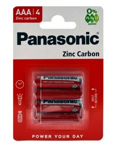 Panasonic Zinc Carbon Μπαταριες Aaa R03 1.5V 4Tmx
