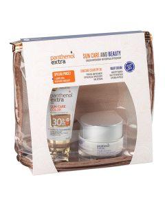 Medisei – Promo Panthenol Extra Suncare Color Αντηλιακό Προσώπου με Χρώμα SPF30 50ml & Αντιρυτιδική Κρέμα Νύχτας 50ml & Δώρο Νεσεσέρ