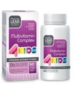 Pharmalead Multivitamin Complex 4 Kids Φόρμουλα Πολυβιταμίνης για Παιδιά με Γεύση Κεράσι για Ενέργεια & Τόνωση 60 Ζελεδάκια