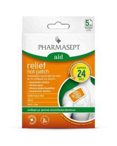 Pharmasept Aid Relief Hot Patch Επίθεμα Για Τον Πόνο 5 τεμάχια
