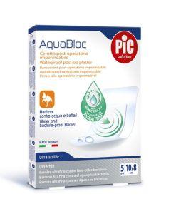 Pic Solution Aquabloc Μετεγχειριτικά Αδιάβροχα Αυτοκόλλητα Επιθέματα 10X8Cm 5Τμχ