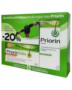 Priorin Extra Promo Set Πακέτο Περιποίησης Για Κανονικά/Ξηρά Μαλλιά Συμπλήρωμα Διατροφής 60 Κάψουλες & Σαμπουάν 200ml
