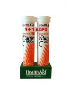 Health Aid Vitamin C 1000Mg Orange 1+1 Δωρο 2X20 Tabs
