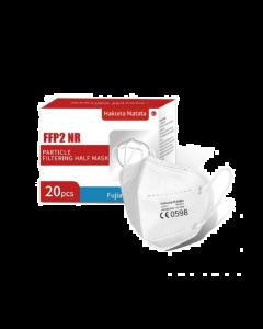 Μάσκα προστασίας FFP2 NR KN95 χωρίς βαλβίδα εκπνοής με Μεταλλικό Έλασμα 5τμχ
