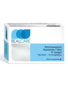 Real Care Αποστειρωμένες Γάζες 15X15 12 τμχ
