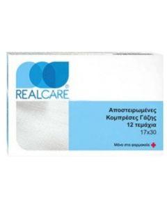 Real Care Αποστειρωμένες Γάζες 17X30 12 τμχ