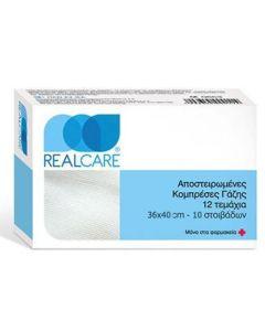 Real Care Αποστειρωμένες Γάζες 36x40 10τμχ