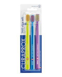 Curaprox CS 5460 Οδοντόβουρτσα Ultra Soft 0.10Mm Family Pack 2+1 Δώρο