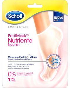 Scholl PediMask Nutriente Nourish Ενυδατική Μάσκα Ποδιών Χωρίς Άρωμα 1 Ζεύγος