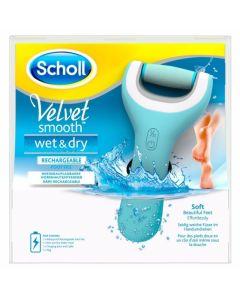Scholl Smooth Wet & Dry Επαναφορτιζόμενη Αδιάβροχη Ηλεκτρική Λίμα Ποδιών 1τμχ