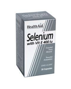 Health Aid Selenium 100mg & Vitamin E 400iu Σελήνιο με Βιταμίνη Ε για Μαλλιά, Νύχια & Κυτταρική Προστασία 30 Κάψουλες