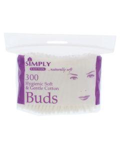 Simply Cotton Μπατονετες Απο 100% Αγνο Βαμβακι 300 Τμχ