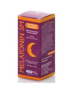 Sm Pharmaceuticals Melatonin Spray Στοματικό Σπρέι Μελατονίνης Άμεσης Δράσης για την Αντιμετώπιση της Αυπνίας 60 Δόσεις x 12ml