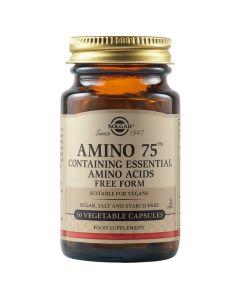 Solgar Amino 75 Φόρμουλα Αμινοξέων Για Την Καλή Λειτουργία Του Μεταβολισμού 30 Φυτικές Κάψουλες