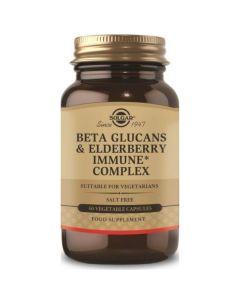 Solgar Beta Glucans & Elderberry Immune Complex Ενίσχυση Ανοσοποιητικού Συστήματος 60 Φυτικές Κάψουλες