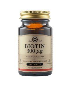 Solgar Biotin 300μg Βιοτίνη Για Υγεία Μαλλιών & Δέρματος 100 Ταμπλέτες