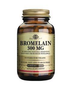 Solgar Bromelain Συμπλήρωμα Διατροφής Για Τη Φυσιολογική Λειτουργία Του Πεπτικού Συστήματος 300mg 60Caps