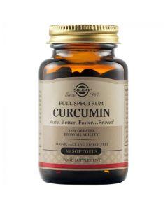 Solgar Full Spectrum Curcumin Συμπλήρωμα Διατροφής Με Κουρκουμά Για Την Ομαλή Λειτουργία Εγκεφάλου, Αρθρώσεων & Ανοσοποιητικού 30 Μαλακές Κάψουλες