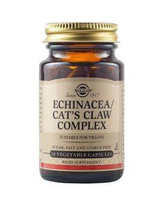Solgar Echinacea Cat's Claw Complex Φόρμουλα με Εχινάκεια για την Ενίσχυση του Ανοσοποιητικού Συστήματος 30 Φυτικές Κάψουλες