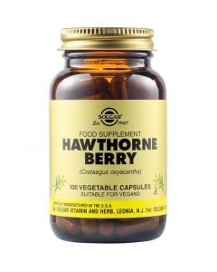 Solgar Hawthorne Berry Εκχύλισμα Κράταιγου Για Την Υγεία Του Καρδιαγγειακού Συστήματος 100 Φυτικές Κάψουλες