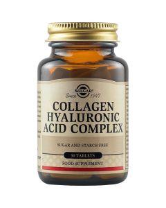 Solgar Collagen Hyaluronic Acid Complex 120mg Συμπλήρωμα Διατροφής Με Υαλουρονικό Οξύ Για Την Καλή Υγεία & Όψη Του Δέρματος 30 Φυτικές Ταμπλέτες