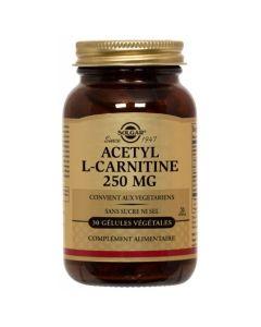 Solgar Acetyl L-Carnitine Καρνιτίνη Για Τη Βελτίωση Της Μνήμης & Της Διανοητικής Εγρήγορσης 30 Φυτικές Κάψουλες