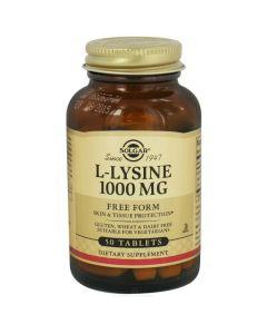 Solgar L-Lysine 1000mg Λυσίνη Με Αντιοξειδωτικές Ιδιότητες 50 Ταμπλέτες