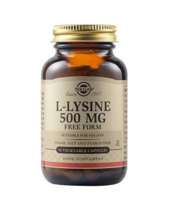 Solgar L-Lysine 500mg 50 Vegetable Caps