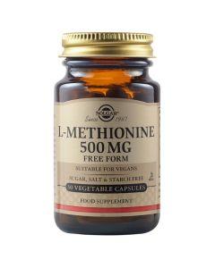 Solgar L-Methionine 500mg Συμπλήρωμα Διατροφής Για Την Υγεία Των Μαλλιών & Του Δέρματος 30veg.caps