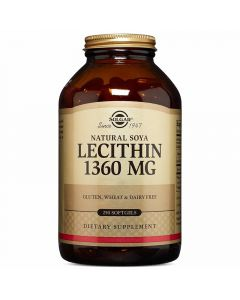 Solgar Lecithin 1360mg  Διατήρηση & Έλεγχος Βάρους 250caps