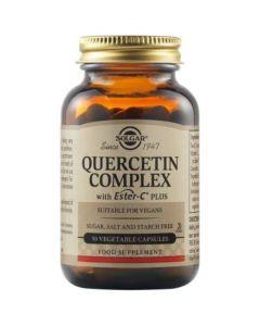 Solgar Quercetin Complex Ester-C Plus Φόρμουλα Κουερσετίνης Με Ester-C® Και Βρωμελαΐνη Για Αντιμετώπιση Αλλεργικών Συμπτωμάτων 50 Φυτικές Κάψουλες