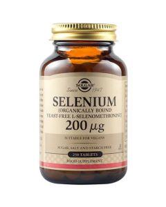 Solgar Selenium 200μg Σελήνιο για Υπολειτουργία Θυροειδούς & Υγεία Μαλλιών & Νυχιών 250 Ταμπλέτες