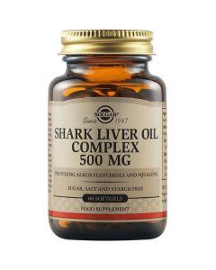 Solgar Shark Liver Oil Complex 500mg Αγνό Νορβηγικό Μουρουνέλαιο Καρχαρία για Ενίσχυση Ανοσοποιητικού Συστήματος 60 Μαλακές Κάψουλες