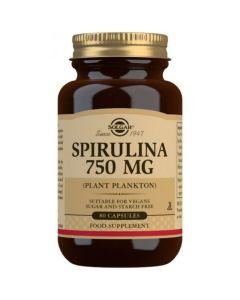 Solgar Spirulina 750mg Σκεύασμα με Σπιρουλίνα για Διατήρηση & Έλεγχο Βάρους 80 Φυτικές Κάψουλες