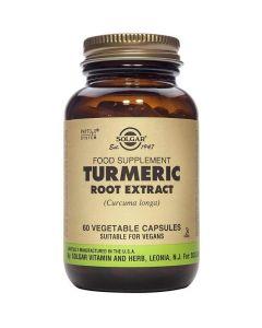 Solgar Turmeric Root Extract Εκχύλισμα Κουρκουμά Φλαβονοειδή με Αντιοξειδωτική Δράση 60 Φυτικές Κάψουλες