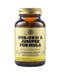 Solgar Uva - Ursi Juniper Formula Φυτικό Εκχύλισμα για την Υποστήριξη της Ισορροπίας του Νερού στον Οργανισμό 100 Φυτικές Κάψουλες