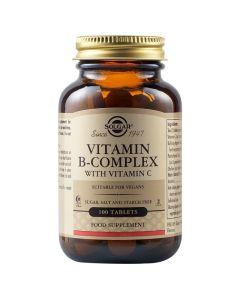 Solgar Vitamin B-Complex With Vitamin C Φόρμουλα Βιταμινών B & C Κατά Του Στρες 100 Ταμπλέτες