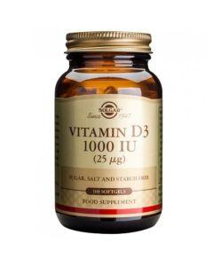 Solgar Vitamin D3 1000IU 100 Μαλακές Κάψουλες