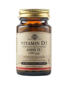 Solgar Vitamin D3 4000IU 60 φυτικές κάψουλες