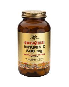Solgar Chewable Vitamin C 500mg Βιταμίνη C Με Γεύση Πορτοκάλι Για Το Ανοσοποιητικό, Τα Οστά & Τα Δόντια 90 Μασώμενες Ταμπλέτες