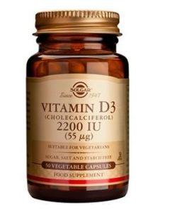 Solgar Vitamin D3 2200Iu 55Mg 50 Caps