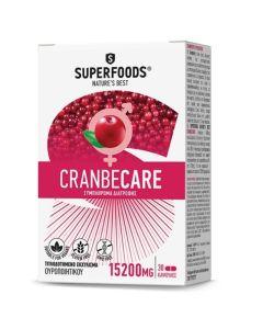 Superfoods Cranbecare 15200mg Φυσικό Συμπλήρωμα Διατροφής Με Κράνμπερι Για Το Ουροποιητικό Σύστημα 30 Caps