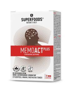 Superfoods Memoact Plus Φυσικό Συμπλήρωμα Διατροφής Για Τη Φυσιολογική Νοητική Επίδοση & Λειτουργία Του Νευρικού Συστήματος 30 Caps