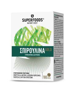 Superfoods Spirulina Gold 300mg Συμπλήρωμα Διατροφής 180 Δισκία